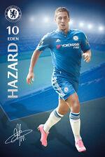 Rare EDEN HAZARD Chelsea FC SIGNATURE SERIES Football Soccer Action POSTER