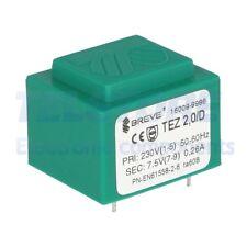 1pcs  Trasformatore incapsulato 2VA 230VAC 7,5V Montaggio PCB IP00 TELSTORE