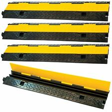 4 Pack 2 Channel 1m Rubber Cable Guard Bridge Protector Load Event Safety Ramp