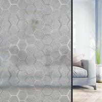 3D Static Cling Cover Frosted Window Glass Film Art Sticker Privacy Office Decor