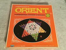 CHINESE CHECKERS ORIENT GAME LAKESIDE 3 DIMENSIONAL 1972 #8323 COMPLETE