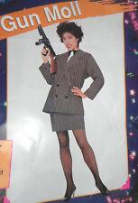 Donna Sexy Gangster Bugsy Malone PISTOLA MOLL Costume Adulto Costume Medium