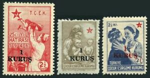 Turkey RA 154-156,MNH,Michel 169-171. Postal Tax Stamps 1952.Nurse,new value.