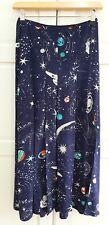 RIXO London Cosmic Constellation Georgia Silk Split Midi Skirt Sz Small