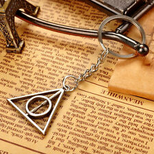 NEW Harry Potter Deathly Hallows Silver Key Ring Key Chain Keyring Car Keychain