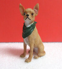 Danbury Mint Green Bandana Chihuahua Dog Miniature Figurine