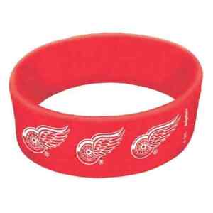 Detroit Red Wings NHL Pro Hockey Sports Party Favor Rubber Wrist Cuff Bands