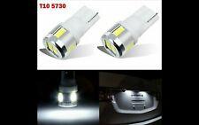 2 x Bombillas LED Coche Matricula Alta Luminosidad T10 6 SMD 5730 Xenon W