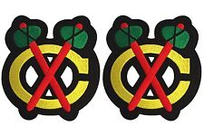 CHICAGO BLACKHAWKS SHOULDER PATCHES ROAD WHITE JERSEY LOT OF TWO