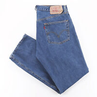Vintage LEVI'S 501 Blue Denim Regular Straight Jeans Mens W36 L32