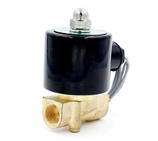 "DC12V 3/8"" Brass Electric Solenoid Valve Water Air N/C Gas Water Air"