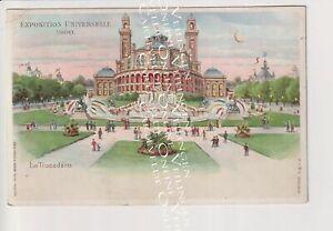 Old Postcard Paris Hold to Light Expo 1900 Kahn / Trocadero