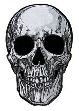 SUB SKULL EMBROIDERED 9 INCH IRON ON MC BIKER  PATCH