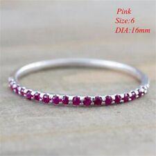 New Engagement Charm Crystal Band Ring Rhinestone Wedding Jewelry