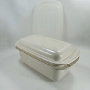 Tupperware Ultra 21 Loaf Pan #1745 Microwave 3-pc Cookware Base Lid Plastic Seal