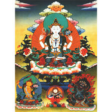 Wooden Jigsaw Puzzle 500 PCS Thangka Painting Three Masters of Tibetan Buddhism
