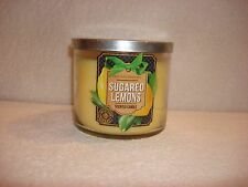 Bath & Body Works Sugared Lemons 3 Wick Candle 14.5 Oz -