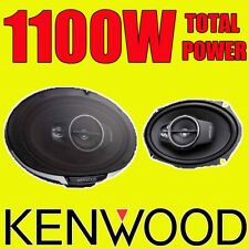 """KENWOOD 6""""x9"""" 6x9 1100W 3-way car rear deck oval shelf speakers, brand new pair"""
