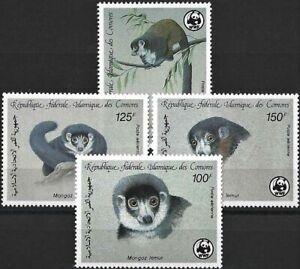 "1987 ""Comoros"" WWF, Mongozmaki complete set VF/MNH! CAT 16$ LOOK!"
