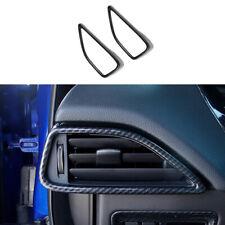 Fit For Jaguar F-PACE 2017-2021 Carbon Fiber Console L&R Air Outlet Vent Trim 2X