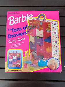 1995 Mattel Barbie Tons of Drawers Carry Case 12220