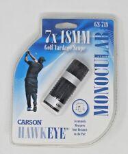 Brand New! Carson 7x18mm HawkEye Golf Yardage Scope Monocular (GS-718)