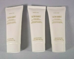 Lot 3 MARY KAY Travel Size 0.75 oz SATIN HANDS Hand Cream w/ Sunscreen SPF 4