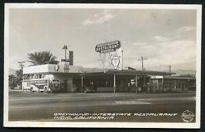 US Indio California RRPC Greyhound Bus Station/Restaurant