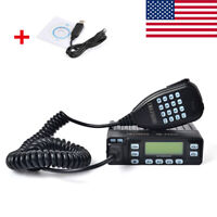 25W Dual Band 70 CM 2 Meter MINI Portable Ham Amateur Car Mobile Transceiver