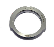M39 Screw to Leica M Mount Adapter 35-135 framelines 35mm 135mm Chrome / Brass