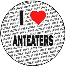 """I Love Anteaters - 8"""" 20cm Circle Icing Cake Topper Decoration - Birthday Event"""