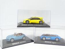 Norev Presse Concept Car 1/43 - Lot de 3 : Renault Laguna - Megane Trophy - Wind
