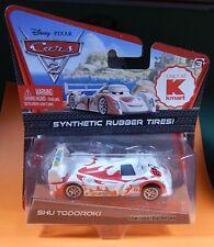 Disney Pixar CARS 2 Kmart Exclusive Shu Todoroki Synthetic Rubber Tires New