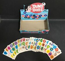 TRADING CARD BOX OF FLEER DUMB DABS MINI STICKERS BOX & LOT OF 28 CARDS
