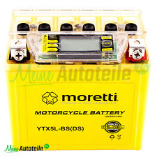 ORIGINAL MORETTI WARTUNGSFREI BATTERIE YTX5L-BS + STROMTESTER KEEWAY KYMCO