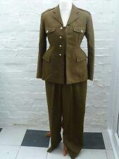 Vintage Army Military Khaki Green Two Piece Uniform