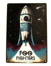 Foo Fighters in Concert Tin Sign Man Cave Spaceship Vintage Advertising Poster