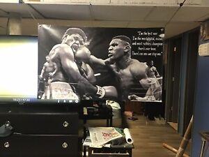 BIG 45x28 MIKE TYSON Vinyl Banner POSTER Joe Frazier Muhammad Ali GGG  Rocky art