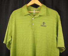 Ashworth Mens Short Sleeve Olive Green Polo Golf Shirt 2XL