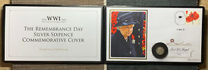 2014 WWI Remembrance Day Silver Sixpence Commemorative Cover Benham Jubilee Mint
