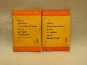 CASE 530 Construction King Loader Backhoe & King Wheel Tractor Operators Manuals