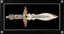 """NIB FRANKLIN MINT DRAGON MASTER DAGGER 16"""" + 19 1/2"""" DISPLAY  ART KNIFE"""