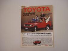 advertising Pubblicità 1986 TOYOTA LAND CRUISER 250 TD BJ 73