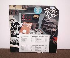 ROCK ON promo double vinyl LP, various early rock n' roll artists, 1975, VG+/VG