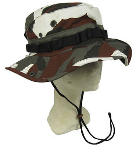 Urban Red Camouflage Bush Hat Boonie Cap Giggle With Neck Strap Cotton All Sizes