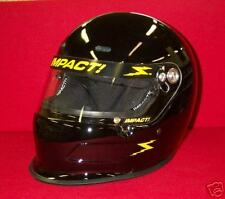 Impact Charger Gloss Black Racing Helmet  SA2015 Your Choice of S,M,L,XL