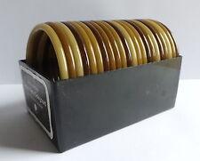 BUCH+DEICHMANN VINTAGE NYLON BANGLES DESIGNED BY KETTY DALSGAARD, SET OF 22, 5mm