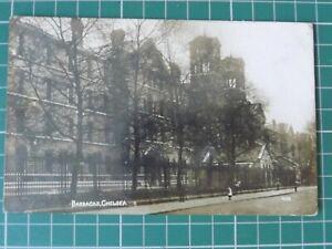 Vintage Chelsea Barracks Postcard C1910