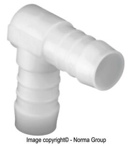 PACK OF 10 NORMA ELBOW PLASTIC PUSH-ON HOSE CONNECTORS