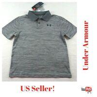 Under Armour Boys UA Gray Polo Shirt Heatgear NWT Choose Size M or L